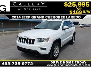 2014 Jeep Grand Cherokee Laredo 4x4 $169 bi-weekly APPLY NOW
