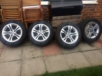 Tyres / Alloy wheels size 225 / 55 ZR 16 excellent tread taken from BMW