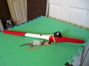 WOODEN FLUTE NATIVE AMERICAN STYLE HAND MADE