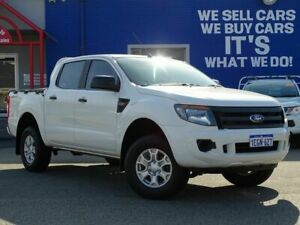 2013 Ford Ranger PX XL Double Cab 4x2 Hi-Rider White 6 Speed Sports Automatic Utility Welshpool Canning Area Preview
