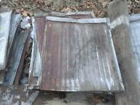 RECLAIMED TIN PIECES FROM BARN ROOF