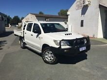 2012 Toyota Hilux KUN26R MY12 SR (4x4) White 5 Speed Manual Dual Cab Pick-up Beckenham Gosnells Area Preview