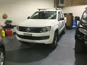 2015 Volkswagen Amarok 2H MY15 TDI400 4MOT Core White 6 Speed Manual Cab Chassis Cardiff Lake Macquarie Area Preview