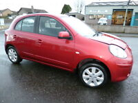Nissan Micra Acenta (red) 2012-09-13