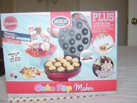 NEW CAKE POP MAKER .AND CAKE TOP MOULD WITH FREE STACKING STAND AND STICK'S FOR CAKE POP'S