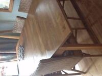 Ikea Solid oak dining table laura ashley style