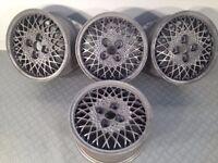 "RH artec 14"" 4x108 6j deep dish alloy wheels, original, not bbs, ats, borbet, lenso"