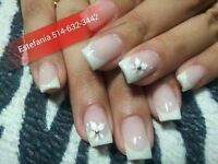 POSE D'ONGLES GEL,ACRYLIC,RESINE,SHELLAC,PEDICURE ECT