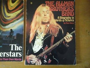 2 Books Allman Brothers and Super Stars In Their Own Words