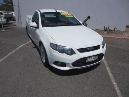 2014 Ford Falcon FG MkII XR6 Ute Super Cab Winter White 6 Speed Sports Automatic Utility