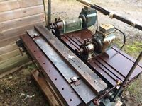 Used Brookman Horizontal Double Borer for timber for repair or parts