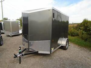 GREAT PRICE, GREAT TRAILER! - 6X10 HAULIN WITH WEDGE NOSE London Ontario image 2