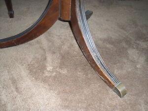 Solid Mahogany dining room table & chairs Kawartha Lakes Peterborough Area image 6