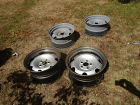 vw t5 transporter banded steel wheels staggered 17x9 front 17 x9.5 rears