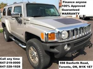 2007 HUMMER H3 LEATHER FINANCE 100% APPROVED WARRANTY 169,980 KM
