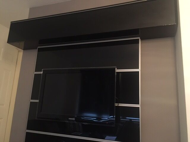 Ikea Besta Burs Tv Stand Floating Cabinet And Framsta Tv