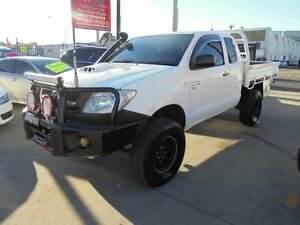 2010 Toyota Hilux KUN26R MY10 SR White 5 Speed Manual 2D Cab Chassis Granville Parramatta Area Preview