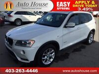 2013 BMW X3 28i PANORAMIC ROOF PUSH BUTTON START $311 BW