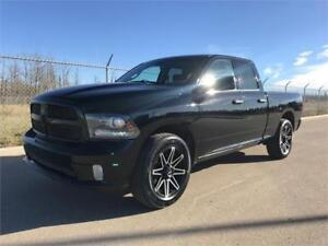"2014 Ram 1500 Sport Quad 4x4 ~ Black Beauty 20"" Rims $177 B/W"