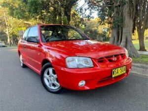 2000 Hyundai Accent LC GS Red 5 Speed Manual Hatchback Strathfield Strathfield Area Preview