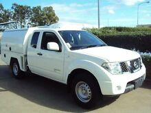 2012 Nissan Navara D40 S7 MY12 RX King Cab White 5 Speed Automatic Cab Chassis Acacia Ridge Brisbane South West Preview