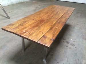 CUSTOM made new world/modern/rustic wood DINING TABLES for SALE