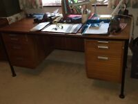 Desk with drawers & large hanging file drawer, includes file dividers :-)