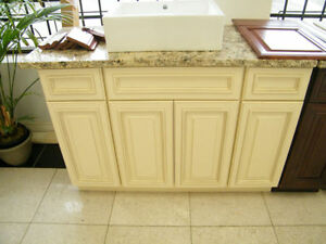 Wood Vanities On Sale With Granite Countertops @ QuebecKitchens West Island Greater Montréal image 1