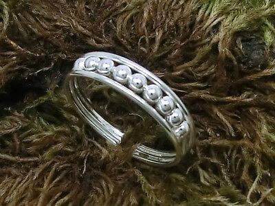 Kugel Zehenring Fußring 925 Silber Zehring glänzend einstellbar