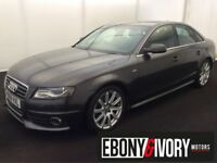 Audi A4 2.0 TDI 143 S LINE 4dr + LEATHER + FULL SERVICE HISTORY (grey) 2009