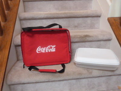 Insulated Coca Cola 1 Gallon Casserole Food Carrier Box Hotcold 12x9x3
