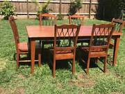 Solid Timber 7 Piece Dining Suite Zillmere Brisbane North East Preview