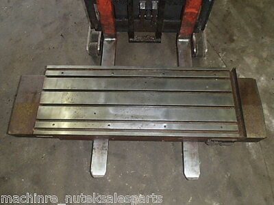 63 X 19.5 X 7.5 Steel T-slotted Table Cast Iron Layout Fixture Plate Weld