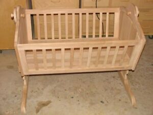 Handcrafted Solid Maple Cradle