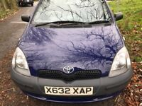 TOYOTA YARIS 998cc VERY GOOD CONDITION ONE YEAR MOT DRIVES QUITE AND SMOOTH NO FAULTS