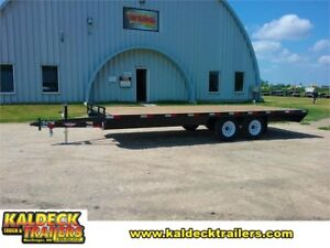 """2019 H and H Trailer 102"""" x 20' 10K DECKOVER LIGHT DUTY"""