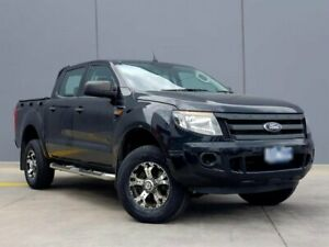 2015 Ford Ranger PX XL Double Cab 4x2 Hi-Rider Black 6 Speed Manual Utility Berwick Casey Area Preview