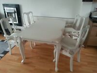 dining vintage table with chairs