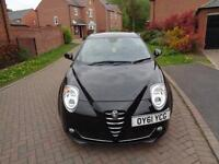 2010 Alfa Romeo MiTo 1.3JTDM Sprint 3dr Black Diesel Manual Only 29K miles