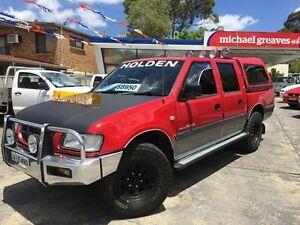2000 Holden Rodeo TFR9 LT Red 5 Speed Manual Crewcab Sylvania Sutherland Area Preview
