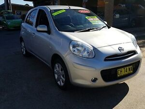 2014 Nissan Micra K13 MY13 ST-L Silver 4 Speed Automatic Hatchback Five Dock Canada Bay Area Preview