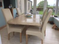 Ex sterling - Marble style table and chairs