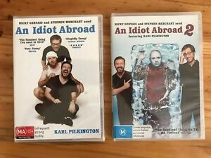 """X2 NEW """"An Idiot Abroad"""" DVDs Somerton Park Holdfast Bay Preview"""