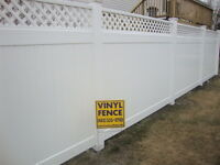 VINYL FENCE Sale book us now before winter hits!!!!