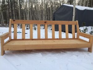Solid pine couch frame