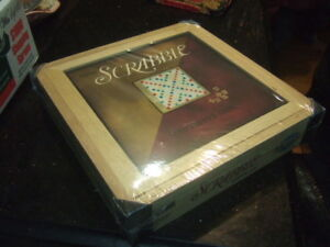 new Scrabble Board Game Wooden Box,3254