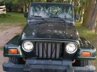 1999 JEEP TJ ..4.0L Etested and SAFETIED!!!!!