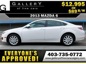 2013 Mazda6 GS $89 bi-weekly APPLY NOW DRIVE NOW