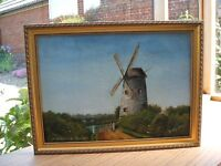 Oil Painting of Old Cowes Windmill Isle of Wight