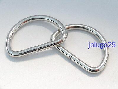 50 1 inch D Rings Metal Dee Rings Webbing  Strapping #37109